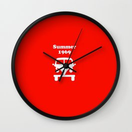 Summer 1969 - red Wall Clock