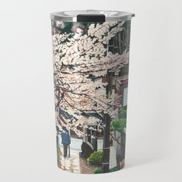 Passing by Cherry Blossoms Travel Mug