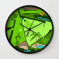 oasis Wall Clocks featuring OASIS by clogtwo