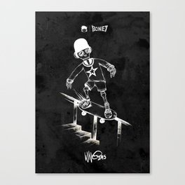 Boney Skateboarding series - 04 Canvas Print