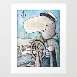 """ The Whale Captain "" Art Print"