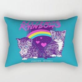 Kittens & Rainbows Rectangular Pillow