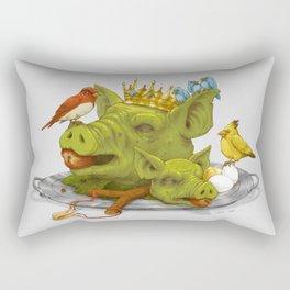 Furious Fowl Rectangular Pillow
