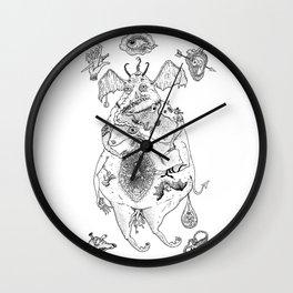 fat lucifer Wall Clock