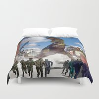 dinosaur Duvet Covers featuring Dinosaur by Beery Method