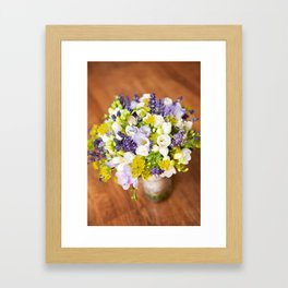 Bridal freesia bouquet wedding flowers Framed Art Print