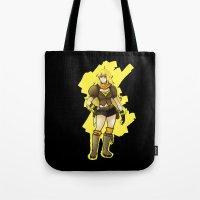 rwby Tote Bags featuring RWBY Yang by IslandMyths