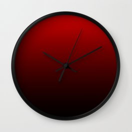 Red and Black Gradient Wall Clock