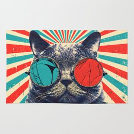 The Spectacled Cat Rug