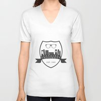 fangirl V-neck T-shirts featuring Fangirl University by Legendary Fangirl