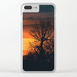 Sunset at Nature Landscape Scene Clear iPhone Case
