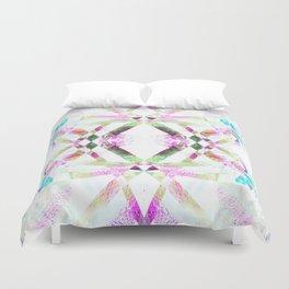 Kaleidoscopic .01 - Fractal Festival Style Duvet Cover