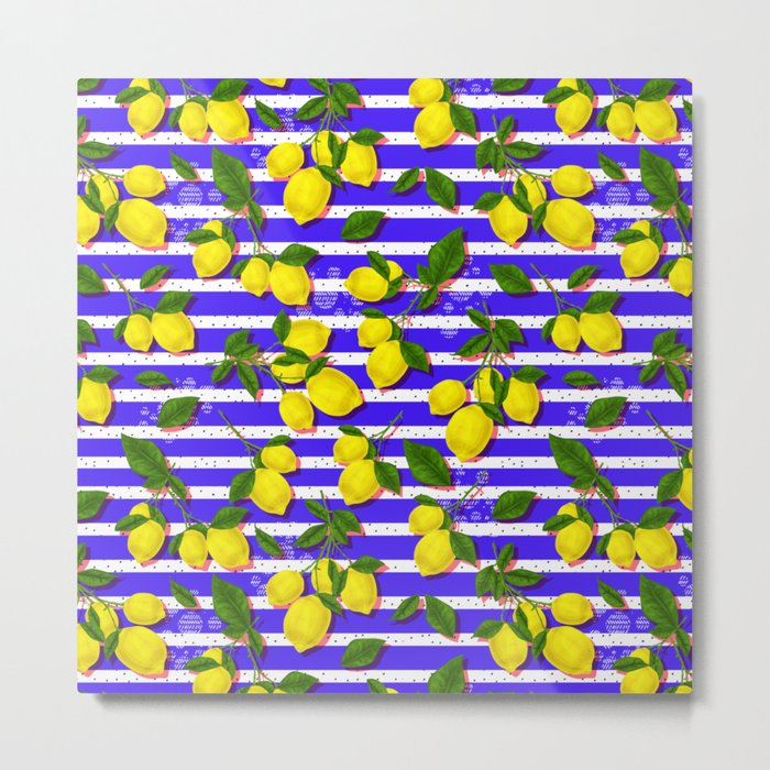 Pattern of lemons II Metal Print