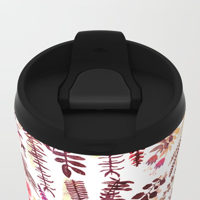 pink focus garden Metal Travel Mug