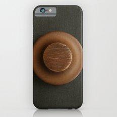 Brown Sculpture Button iPhone 6s Slim Case