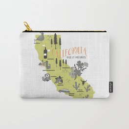 California Map Carry-All Pouch