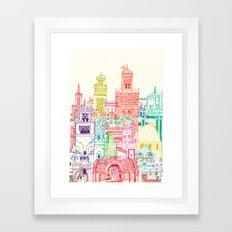 Marrakech Towers  Framed Art Print
