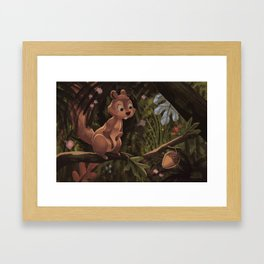 Unexpected Acorn Framed Art Print