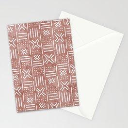 Mudcloth - tribal decor, mud cloth decor, mud cloth bedding, mudcloth curtains, mauve, mauve color, trendy decor Stationery Cards