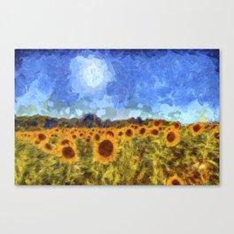 The Sunflowers Van Gogh Canvas Print