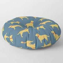 Yellow Labrador Retriever Dog Silhouette Floor Pillow