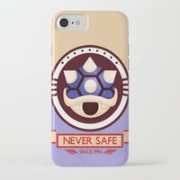 mario kart iPhone & iPod Cases featuring Never Safe - Mario Kart by TomStreetArt