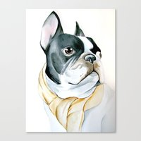 french bulldog Canvas Prints featuring French Bulldog by Dr.Söd