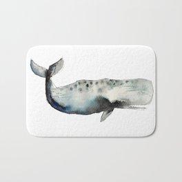 whale- watercolor Bath Mat