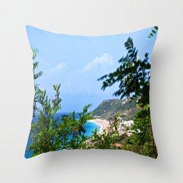 The Sea and Mountains Throw Pillow