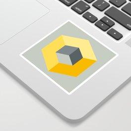 'Iso-Cube Yellow' Sticker