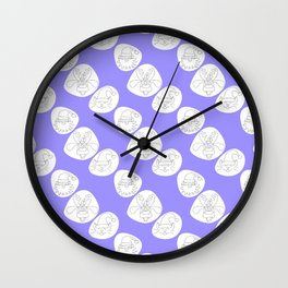 Spotted Christmas faces Wall Clock