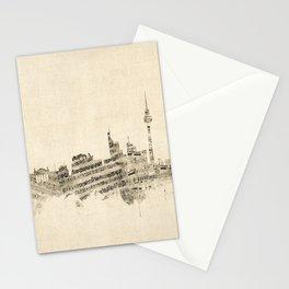 Berlin Germany Skyline Sheet Music Cityscape Stationery Cards