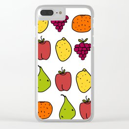 Fruits in a Line Clear iPhone Case