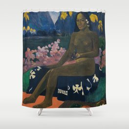 Paul Gauguin - The seed of the Areoi (Te aa no areois) (1892) Shower Curtain