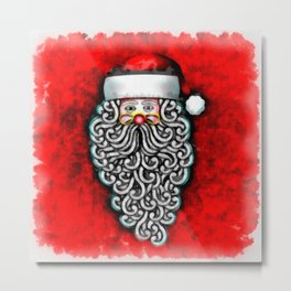 Santa Clause Metal Print