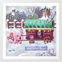 Stardew Valley - Travelling Cart Art Print