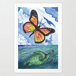As Above So Below Art Print
