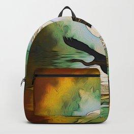 Heron Moon Fantasy Artwork Backpack
