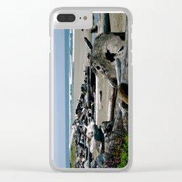 Gold Bluff Beach Driftwood Clear iPhone Case