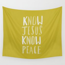 Know Jesus x Mustard Wall Tapestry