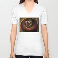 fractal V-neck T-shirts featuring Fractal by gabiw Art