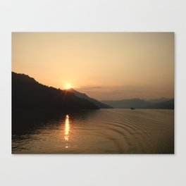 Yangtze River Sunset Canvas Print