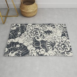 Japanese stylish illustration pattern for home decoration Rug