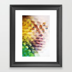 Bug Vision - Lush Vivid Multitudes of her Eyes and Face Framed Art Print