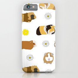 Guinea pigs and Daisies iPhone Case