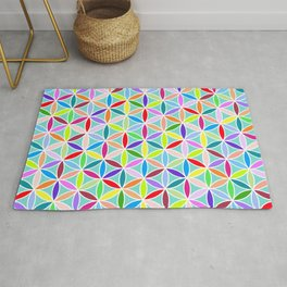 Flower of Life Pattern – Multicoloured Rug