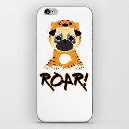 Pug Tiger iPhone Skin