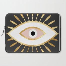 gold foil evil eye in blush Laptop Sleeve