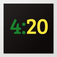 oakland Canvas Prints featuring Oakland 420 by Good Sense