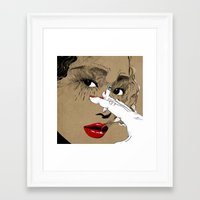 smoking Framed Art Prints featuring Smoking by Sarah Howell